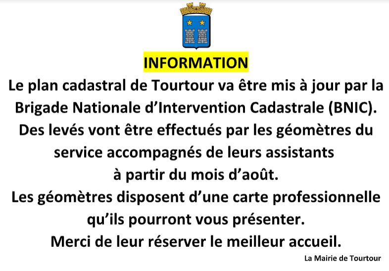 Info plan cadastral de Tourtour